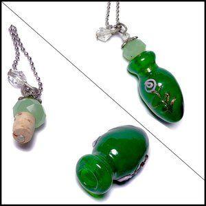 Jewelry - Murano Art Glass Essential Oil Pendant Necklace